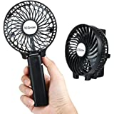 iEGrow USB-ventilator stille mini handventilator ventilator ventilator met batterij kleur (zwart)