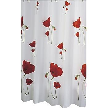 Ridder 471200-350 Tenda per doccia papavero in tessuto 120x200 cm, colore: Multicolore