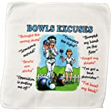 personalised4u Bowls Excuses Microfibre Cleaning Cloth – Perfect for cleaning Bowls Balls and Jack – Makes an Ideal Gift