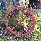 Antikas | Rundes Giebel-Fenster | Eisenfenster für Stall & Gartenhaus | Verziertes Rundfenster