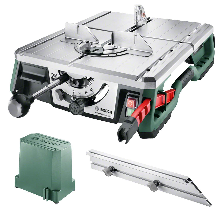 Bosch AdvancedTableCut 52 Tischkreissäge (550 Watt, mit NanoBlade Technologie, bis zu 52 mm Schnitttiefe)