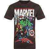 Marvel Comics - Camiseta Oficial para niño - con Personajes de los cómics Hulk, Iron Man, Thor