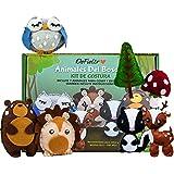DeFieltro Animales del Bosque - Kit de Costura Infantil para Niñas y Niños - Manualidad Sewing Kit para Aprender A Coser