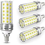 4 pezzi 12W E14 Lampadine LED di mais, E14 candelabro a LED da Equivalenti a 100W, 1450 Lumens Alta Luminosità e Risparmio En
