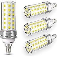 4 pezzi 12W E14 Lampadine LED di mais, E14 candelabro a LED da Equivalenti a 100W, 1450 Lumens Alta Luminosità e…