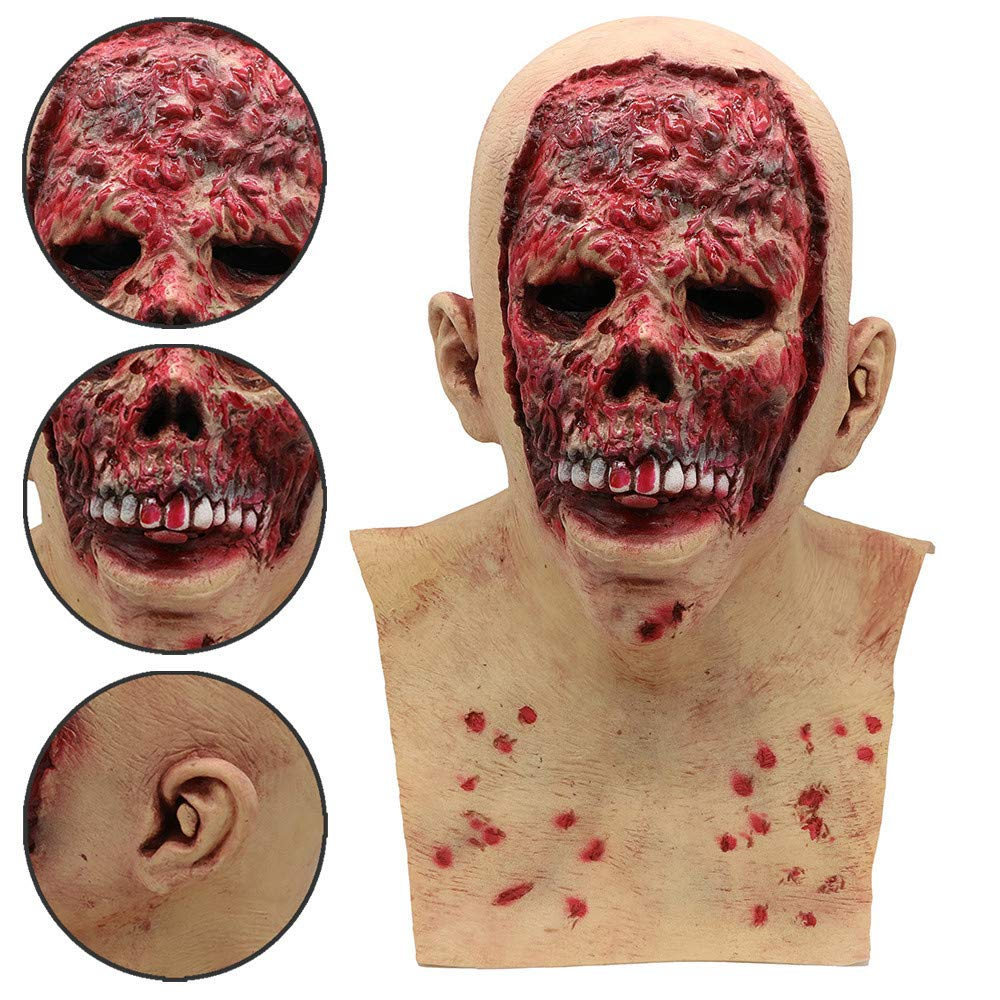 OHQ-MScara-Bloody-Zombie-Mask-Melting-Face-LTex-Disfraz-Walking-Dead-Halloween-Scary-Mask-Navidad-Cosplay-Grimace-Festival