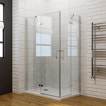 Durovin Shower Cubicle Frameless Sliding Glass Door Side Panel 8mm Full Range