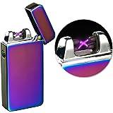 PEARL Elektro Feuerzeug: Elektronisches USB-Feuerzeug mit doppeltem Lichtbogen & Akku, violett (Elektro Feuerzeug USB)