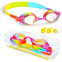 ProChosen Kids Swim Goggles, Waterproof Anti Fog UVA/UVB Protection No Leaking Clear Wide Vision Soft Silicone Gasket…