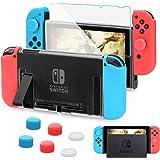 HEYSTOP Carcasa Nintendo Switch, Funda Nintendo Switch con Protector de Pantalla para Nintendo Switch Console y Joy Cons con