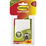 Command Picture Hanging Strips White Large 12 Pairs