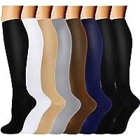 6 Paires Chaussettes de Compression pour Hommes et Femmes (15-20 mmHg)-pour Sportifs,Voyage en Avion,infirmiers,course…