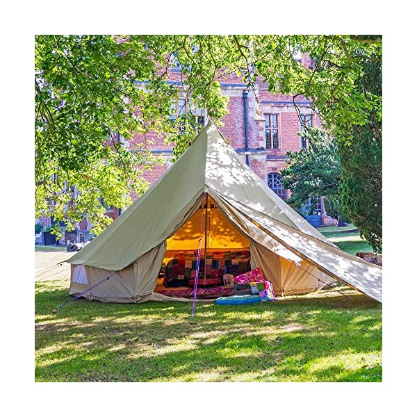 Boutique Camping 4m Sandstone Bell Tent With Zipped In Ground Sheet 4