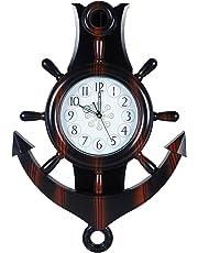 JaipurCrafts WebelKart Plastic Decorative Retro Antique Pendulum Wall Clock