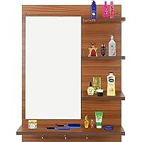 Sanvox Dressing Table Mirror (80X60X14)- (Walnut)