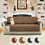 Volwco Double-sided Sofa Cover Reversible Quilted Furniture Protector, Waterproof Non-slip Sofa Cushion Pet Protection...