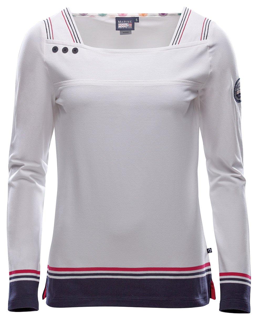 Marinepool Idra 209025–Dewi, Donna, Dewi LS Women, bianco, XXL