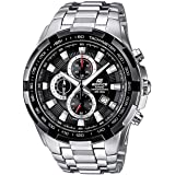 Casio Edifice Watch For Men Black Dial Chronograph Band - EF-539D-1AV