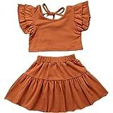 Carolilly Conjunto de ropa para bebé o niña, ropa de verano, 2 piezas, conjunto de ropa de verano