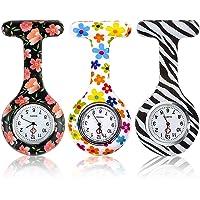 LLMZ 3 Pezzi Orologio da Infermiere Infermieri Orologio Al Quarzo Infermieri Fob Medical Watch Rotondo, Tre Colori