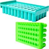 Labworld Test tube stand holder 50 holes pack of 2 for 12mm test tubes reversible type for industrial,pathology and…