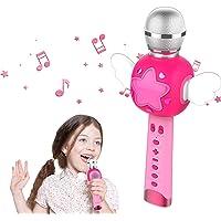 KOMVOX Karaoké Micro Enfant pour Chanter, Micro Karaoke Enfant, Cadeau de d'anniversaire Idéal pour Les Reine des Neige…