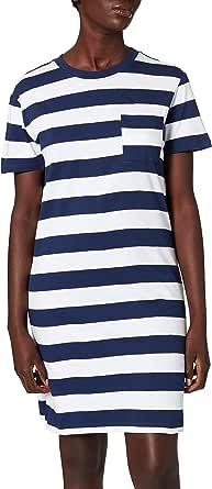 Urban Classics Ladies Stripe Boxy Tee Dress Vestito Donna