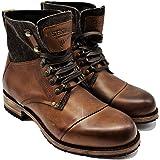 Sendra Boots Bota De Cordones Para Hombre 15187 Milles Combinada En Cuero y Lona.