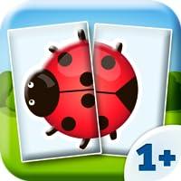 Tiere - Baby Puzzle Spiel (2 Teile) 1+ (von Happy-Touch Kinderspiele)