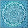 Green Ombre Tapestry Twin Size Indian Hippie Tapestry Wall Hanging Bohemian Wall Hanging Mandala Tapestry New Age Tapestry Gypsy Tapestry