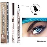 3D Tatouage Crayon à Sourcils avec 4 conseils Imperméable à l'eau & Longue Durée Tattoo Brow Crayon d'encre Croquis de Stylo de Sourcil pour le Maquillage Naturel