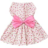 Mumoo Bear Princess Floral Pet Dress, Pink, Small
