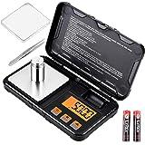 Supkitdin Báscula Digital, Balanzas de Portátiles, con Pantalla LCD, Multifuncional Báscula de Precisión con Peso de Calibrac