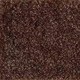 Teppichboden Auslegware | Velours gemustert | 400 und 500 cm Breite | braun | Meterware, verschiedene Größen | Größe: Muster