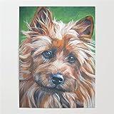 adgkitb canvas Peintures sur Toile Australian Terrier Chien Portrait Animal Salon décoration Maison Mur Art décor Affiche C 4