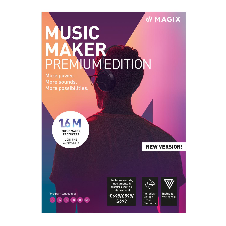 MAGIX Music Maker - 2019 Premium Edition - Unser beliebtestes Musikprogramm! Mehr Power. Mehr Loops. Mehr Möglichkeiten. [Download] (Dj-audio-recorder)