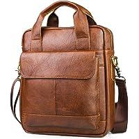 BAGZY Leder Handtasche Herren Aktentasche Business Umhängetasche Messenger Bag Ipad Schultertasche Handytasche Männer…