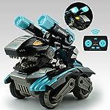 GizmoVine Dinosaurios Coche Teledirigido,Coche Monstruo RC con luz LED Sonido y Batería Recargable,Dinosaur Tank Toys Vehícul
