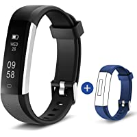 HolyHigh 115U HR Smart Fitness Band, Waterproof Fitness Tracker Watch for Men Women Kids Step Counter Claroie Counter Messages Call Alarm Reminder Cameral Shoot