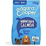 Edgard & Cooper Pienso Perros Adultos Comida Seca Natural Sin Cereales Hipoalergenico 2.5kg Salmon Fresco, Fácil de digerir,