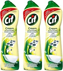Cif Multi Purpose Cleaner with Cream and Micro Crystals Lemon - 500 ml Pack of 3