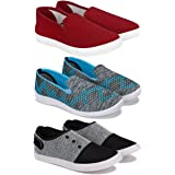 Bersache Sneaker, Loafer (Walking) Washable Multicolor Casual Shoes for Women Pack of 3 Combo(O)-779-1544-1637