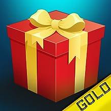 regalo de navidad lluvia: Papá Noel cayendo presenta en la ciudad - gold edition