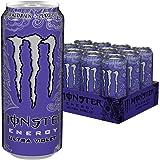 Monster Energy Ultra Violet, Klar, erfrischend und herbsüß, Zero Zucker & Zero Kalorien, Energy Palette, EINWEG Dose (12 x 500 ml)