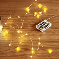 Fairy Lights Battery,FairyDecor 1 Pack 5m/16ft Battery Powered Copper Wire Starry Fairy Lights,Battery Operated Lights…