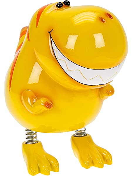 Yellow T Rex Dinosaur Kids Piggy Bank Money Box Gift for