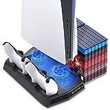 FASTSNAIL Support Compatible avec PS5, Ventilateur de Refroidissement Compatible avec Playstation 5, Support Vertical avec St