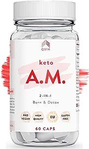 Keto Pro Fit AM (45 JOURS) - Keto burn original cure et authentique, perte de poids avancée, bruleur de graisses extra fort, Vinaigre de cidre de Pomme + Huile MCT C8 Fat Burner, KIT KETO PERSONNALISÉ