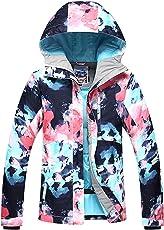 Damen Skijacke warm Jacke gefüttert Winter Jacke Regenjacke