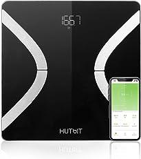 Körperfettwaage, Personenwaage mit Körperfett Bluetooth Personenwaage mit APP Smart digitale Waage für Körperfett, BMI, Gewicht, Muskelmasse, Körperwasser, Protein, Knochenmasse, Grundumsatz usw.